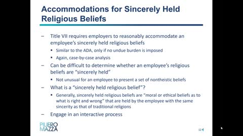 Employees Civil Rights Concerning Mandatory Vaccines