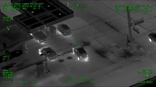 Tampa Police Flawlessly Execute Takedown of Armed Carjacking Suspect (Aerial Night Vision)