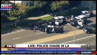 Police Chase of Carjacking Suspect, PIT Move Leads To Standoff with SWAT Armored Vehicles, Drones