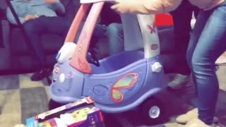 Baby Loves Her First Birthday Car