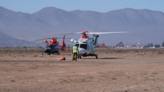 Chilean police helicopter
