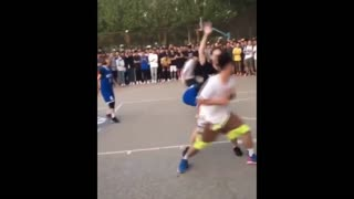 Basketball Player Is Teased By A Pro