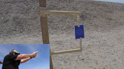 Shooting a card in half with a Kimber K6 Revolver