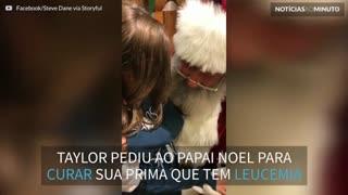 Criança pede que Papai Noel cure sua prima doente