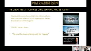 """THE GREAT RESET """"YOU WILL OWN NOTHING AND BE HAPPY"""""""