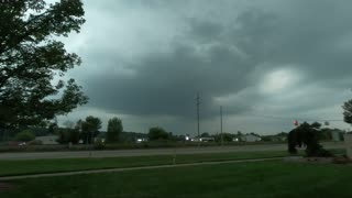 Time lapse of a storm moving