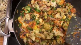 Cauliflower & Brussels Sprouts Sauté