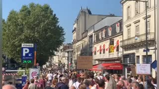Perigueux: French protests against vaccine passport/mandates Aug 14 2021