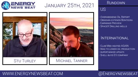 """The Daily Market update """"Energy News Beat"""" 1/12/2021"""