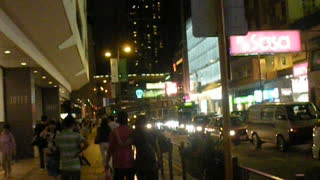 There are a lot of people on the streets of Hong Kong!