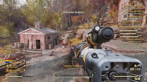 Fallout 76 - Legendary Sheepsquatch