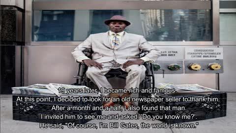 "BILL GATES: ""I'M poorer a man selling newspaper"""