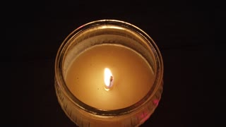 White Candle Slow Motion with Soothing Background Music