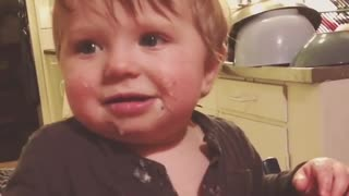 Kid instantly goes from laughing to crying