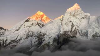 World highest mountain.. mount everest.. in nepal