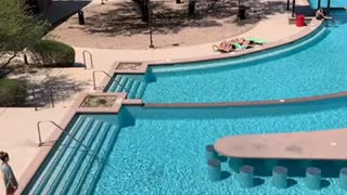 College pool at Texas state