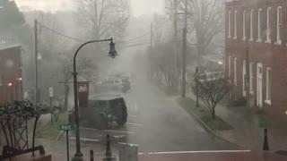 Lightning Bolt Strikes Downtown Wake Forest