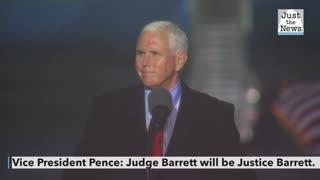 VP Pence: Judge Barrett will be Justice Barrett