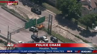 High Speed Police Chase In Houston End With A Bang