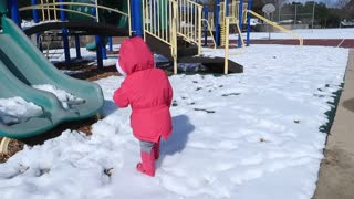 Baby first time in snow