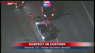 Nighttime Police Pursuit Of Mustang In Newhall CA