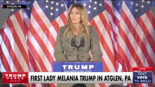 Melania Trump speaks about how the media has treated her husband.