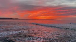 Beautiful Sunrise Over Capitola California