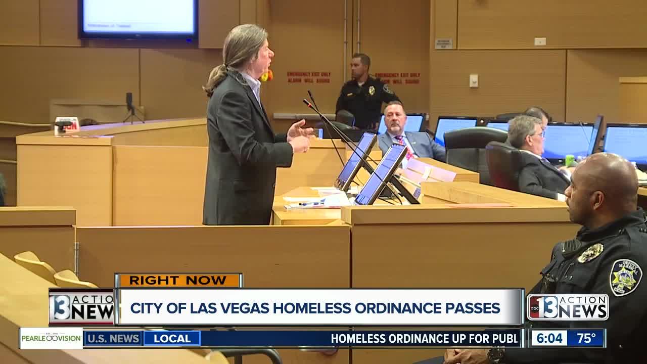 City of Las Vegas homeless ordinance passes