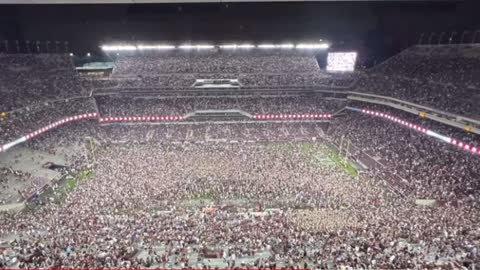 Kyle Field Rushed after Texas A&M Upsets #1 Alabama