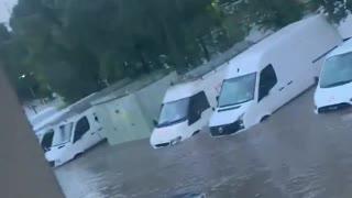 Extreme flooding causes massive damage near Falkirk, Scotland