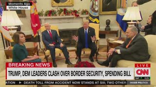 Trump spars with Pelosi, Schumer over border wall funding