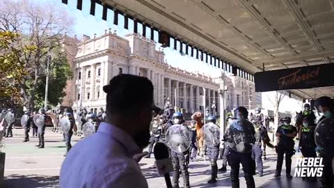 Shocking Police Brutality Against Australian Freedom Rally