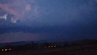 Filmed a thunderstorm with lightning in slow motion