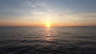 beautiful Sunset Waves Sea Footage
