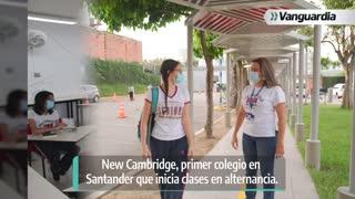 New Cambridge, primer colegio de Santander que inicia clases en alternancia
