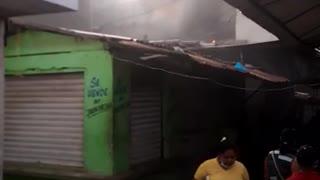incendio en el mercado