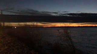 Mississippi River Sunset Winter Time