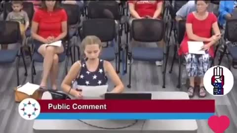 9-Year-Old Girl DESTROYS School Board Over BLM Posters