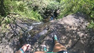 Painful Fall off Hawaiian Waterfall