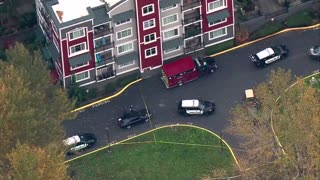 AERIAL FOOTAGE: Two King County Sheriff'f Deputies Shot, Suspect Killed