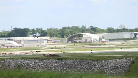 McDonnell Douglas F-15 Eagle landing at St. Louis Lambert Intl