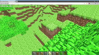 Minecraft Classic in Web Browser