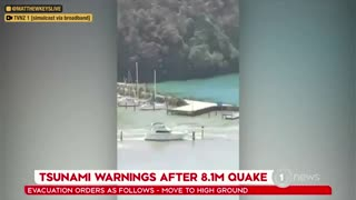 NEW: Video of tsunami waves at a marina in Whangārei, New Zealand