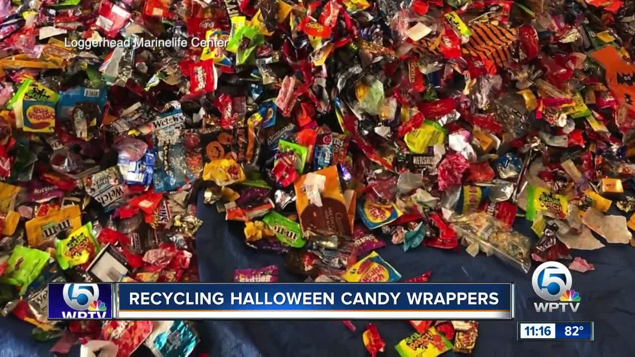 Recycling Halloween candy wrappers