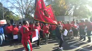 EFF protest against alleged poisoning of fruit trees