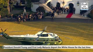 The Trumps depart the White House for Joint Base Andrews, then Florida
