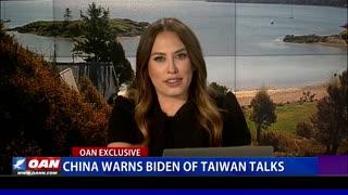 China warns Biden of Taiwan talks