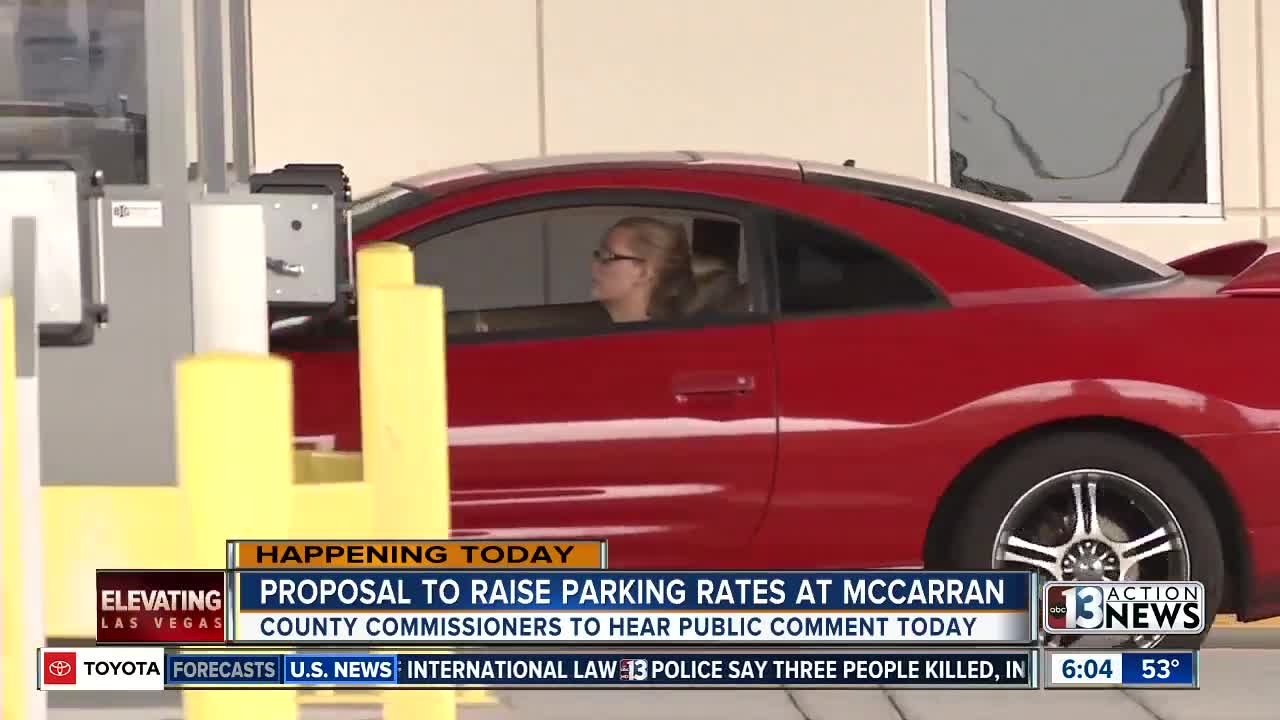McCarran considering raising parking rates