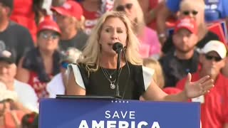MAGA Crowd GOES NUTS When MTG Calls for Impeaching Biden and Firing Fauci