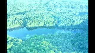 Trippy nature drone footage